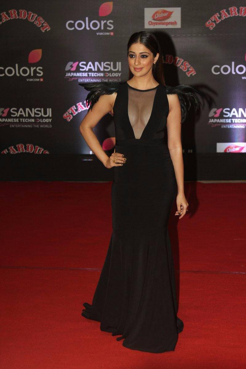 Raai Laxmi In Black Dress At Star Dust Awards