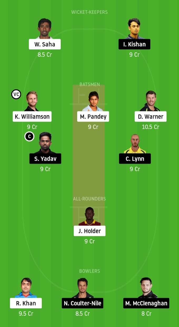IPL 2020: SRH To Battle For Playoffs - Sunrisers Hyderabad vs Mumbai Indians Dream11 Prediction