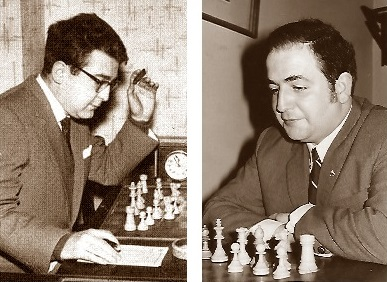 Los ajedrecistas Pablito García Sainz y Lucien Francino Vallet