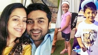 Tamil Actor Surya and Jyothika Family Photos – Suriya Jothika