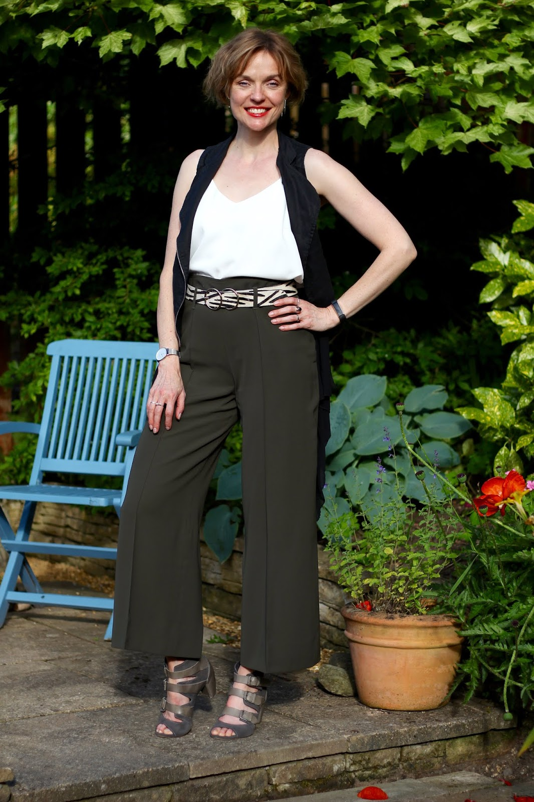 Long Khaki Culottes  Summer Outfit   Fake Fabulous
