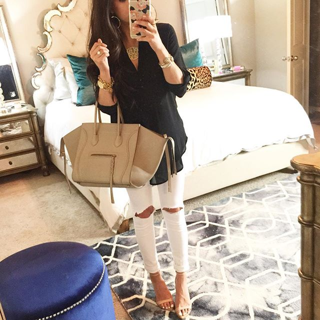 celine phantom taupe, celine phantom beige, lush tunic, cute outfit ideas for right now, cute outfit ideas white denim, cute outfit ideas pinterest, zara sandals nude, oversized monogram necklace, love always monogram necklace
