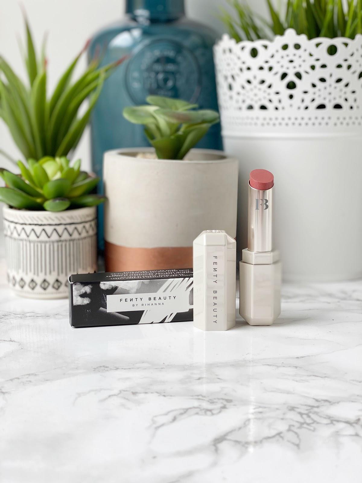 Fenty Beauty slip shine lipstick retro rose review
