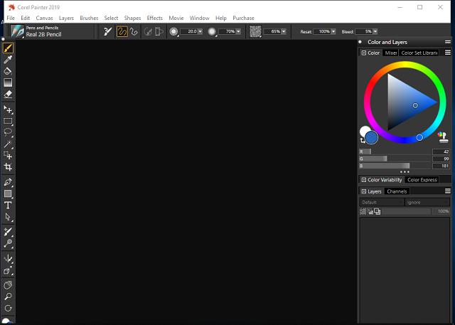تحميل برنامج الرسم بالفرشاة وتصميم الصور والتعديل عليها Corel Painter
