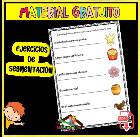 EJERCICIOS DE SEPARAR ORACIONES