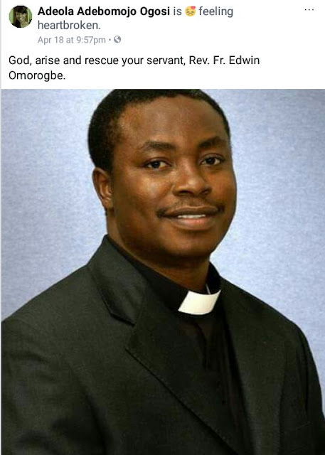 Gunmen abduct Catholic priest in Edo State