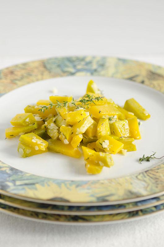 Zucca aglio e timo