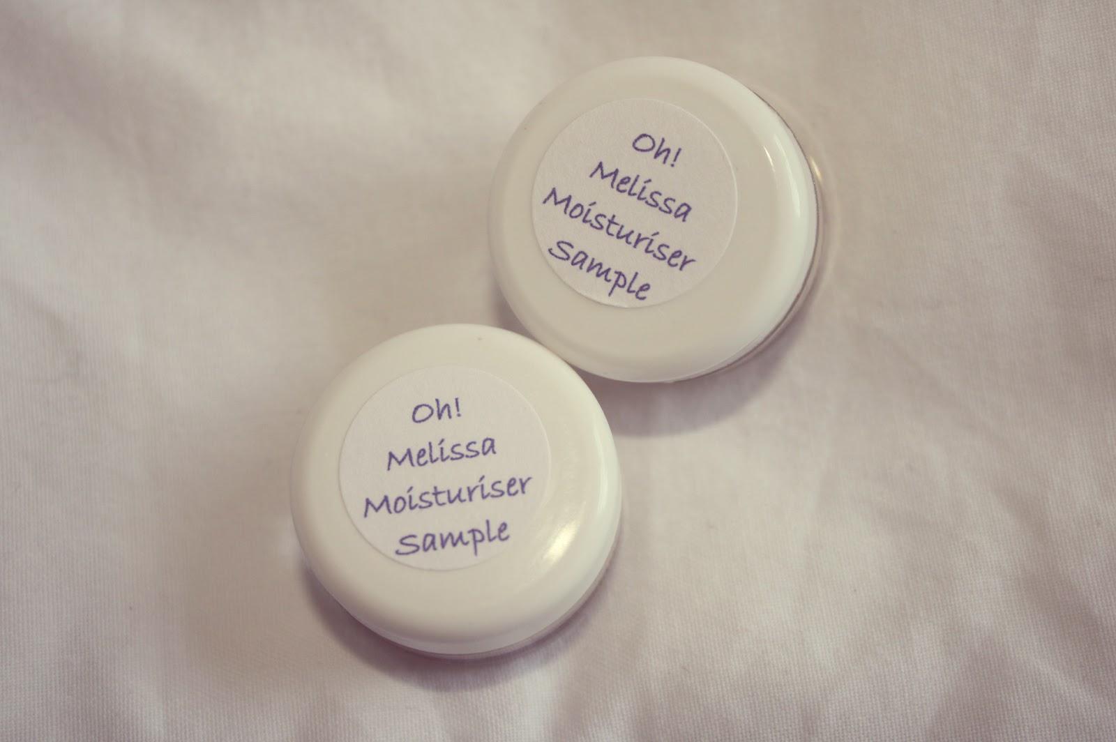 Oh! Organics moisturiser samples