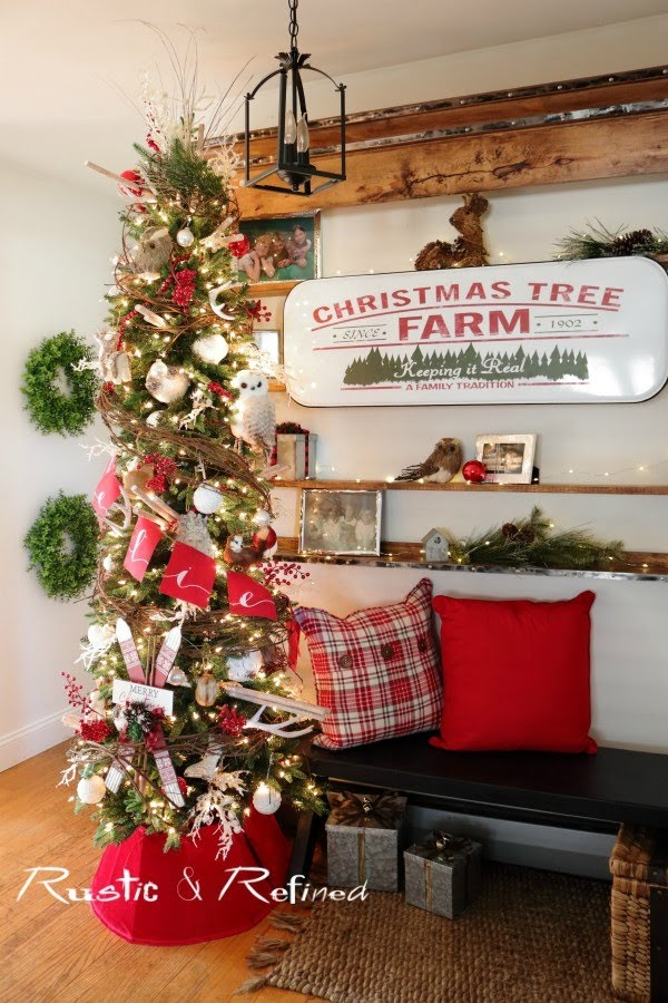 Decorating a Christmas Tree Like a Professional Designer using unusual or unexpected items from around your house.