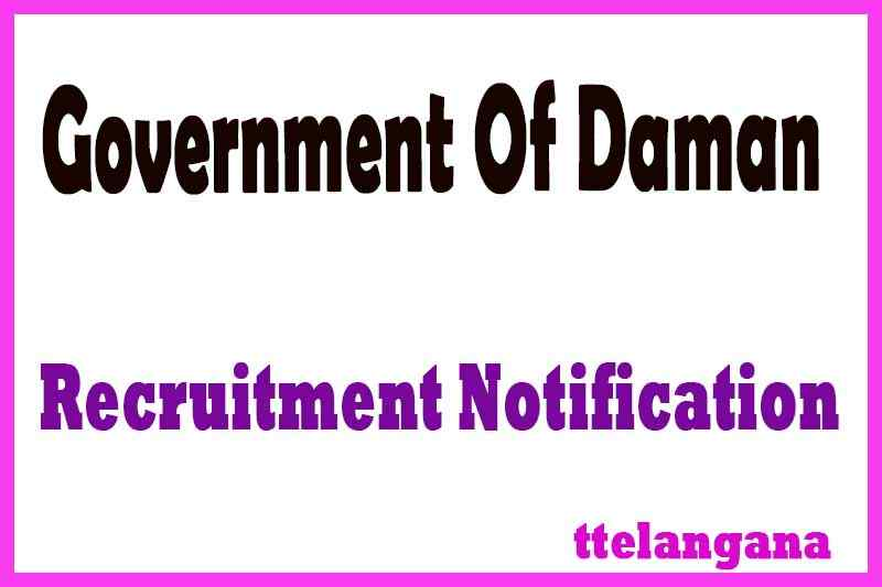 Government Of Daman Recruitment Notification