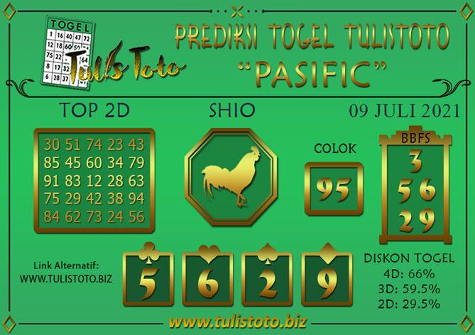 Prediksi Togel PASIFIC TULISTOTO 09 JULI 2021