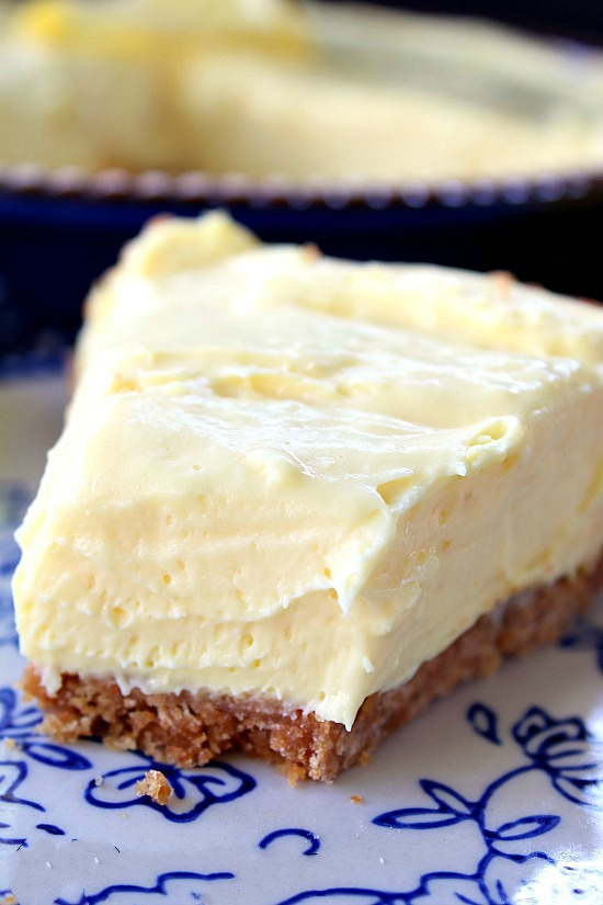 Cream Cheese Lemonade Pie - This Cream Cheese Lemonade Pie is full of delicious lemony flavor and is super creamy and amazingly easy to make. A no-bake dessert that is to die for.