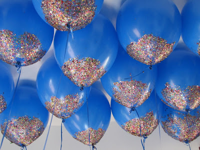 wedding inspiration - wedding ideas - blue balloons with glitter on the bottom - K'Mich Weddings Philadelphia PA - glitter balloons  - Little Pink Apple - littlepinkapple.com