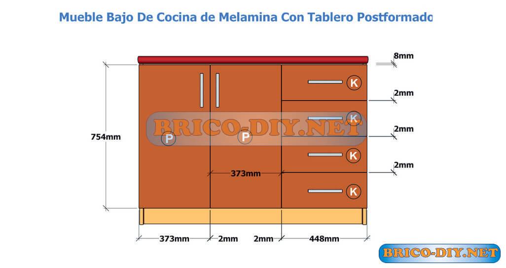 Muebles de cocina bajo mesada hazlo t mismo brico muebles for Medidas estandar de cajones de cocina