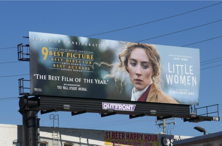 Little Women Critics Choice Awards nominee billboard
