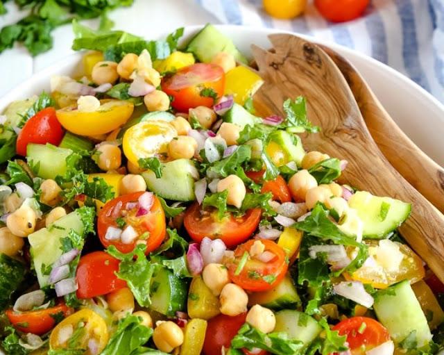 Chickpea Salad Recipe – Vegan and Oil Free #vegan #glutenfree