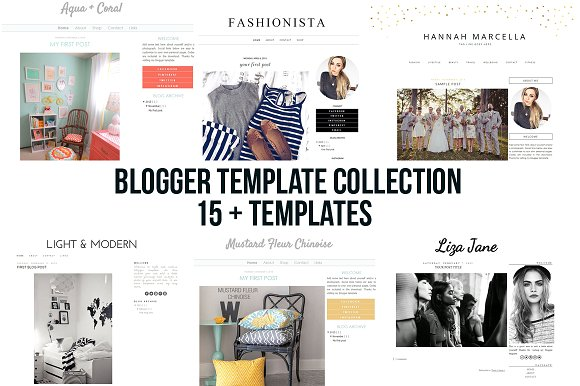 CreativeMarket – Blogger Blogspot Template Collection