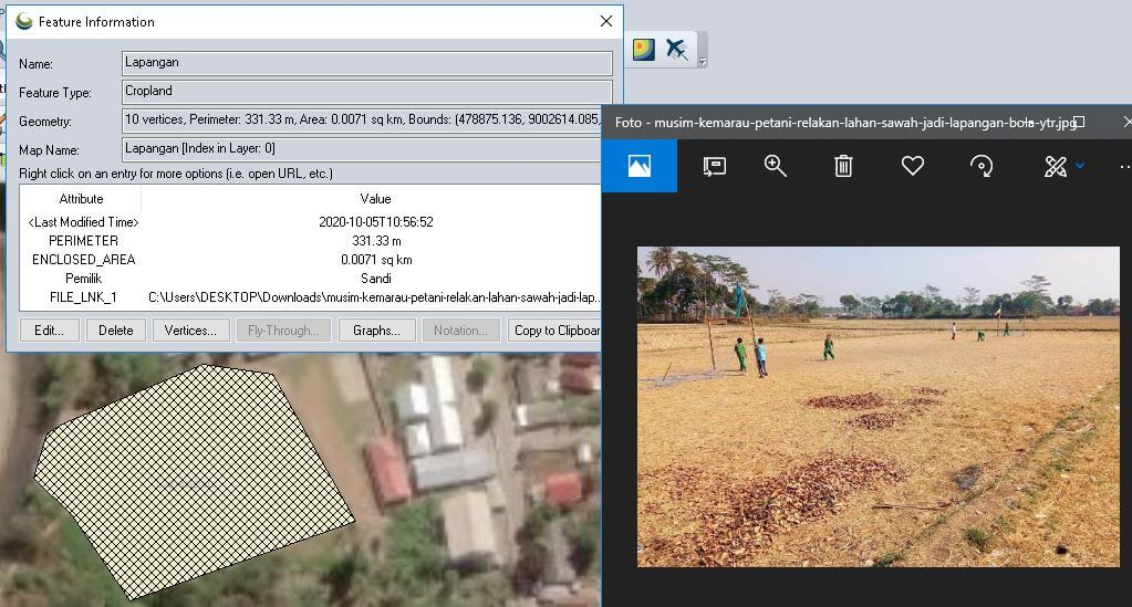 Tutorial Global Mapper: Cara Digitasi, Isi Atribut, dan Crop Raster