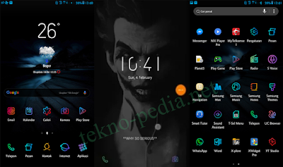 DNA JOKER UX3 Tema untuk Samsung Galaxy S8, S7, J7 Series Android Oreo dan Nougat