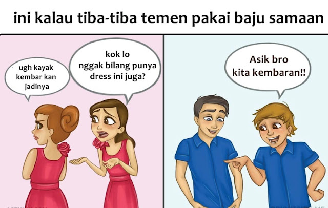 10 Meme Lucu Yang Menggambarkan Perbedaan Wanita Dan Pria