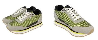 zapatillas de piel de nobuk color amarillo