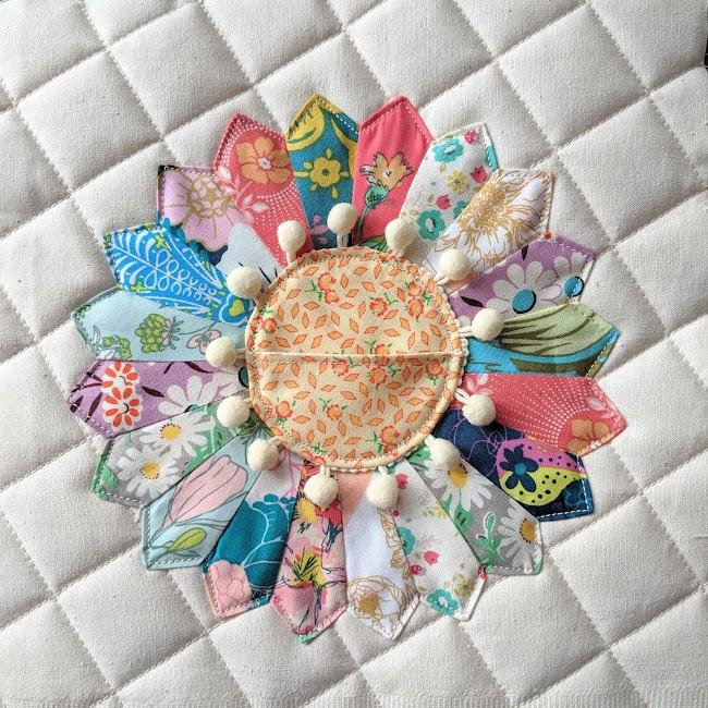 tooth fairy dresden patchwork pillow