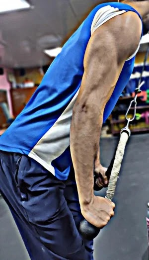 Best Exercises For Triceps, triceps rope pushdown