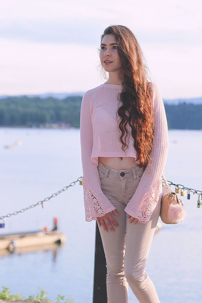 pink, crop top, bershka, Rose Quartz, solina