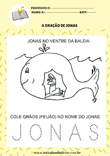 Atividade Jonas dentro da baleia orando