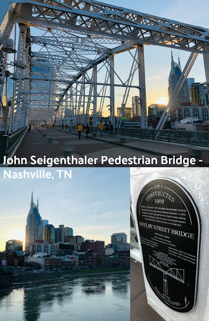John Seigenthaler Pedestrian Bridge formerly the Shelby Street Pedestrian Bridge - Downtown Nashville, Tennessee