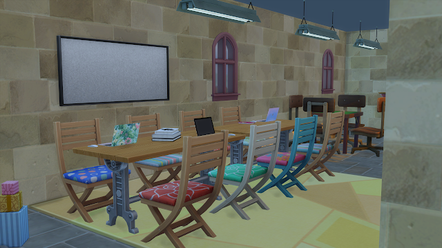 Sims 4 Discover University Wyvern Hall Study Area