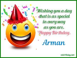 Happy Birthday Arman