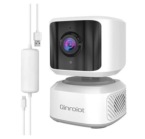 Qinroiot Indoor WiFi IP Camera FHD Pan/Tilt Baby Camera