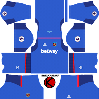 West Ham United Kits 2017/18 - Dream League Soccer