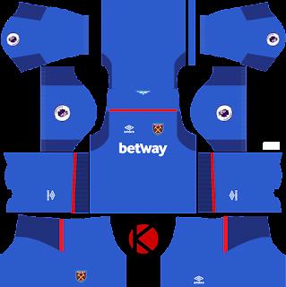 West Ham United Kits 2017/18 - Dream League Soccer