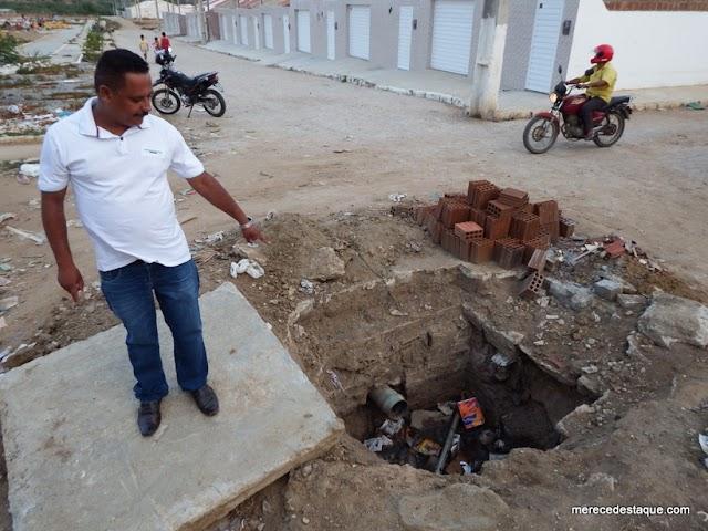 Vereador Deomedes reclama de descaso da Prefeitura de Santa Cruz com o Bairro Santo Agostinho