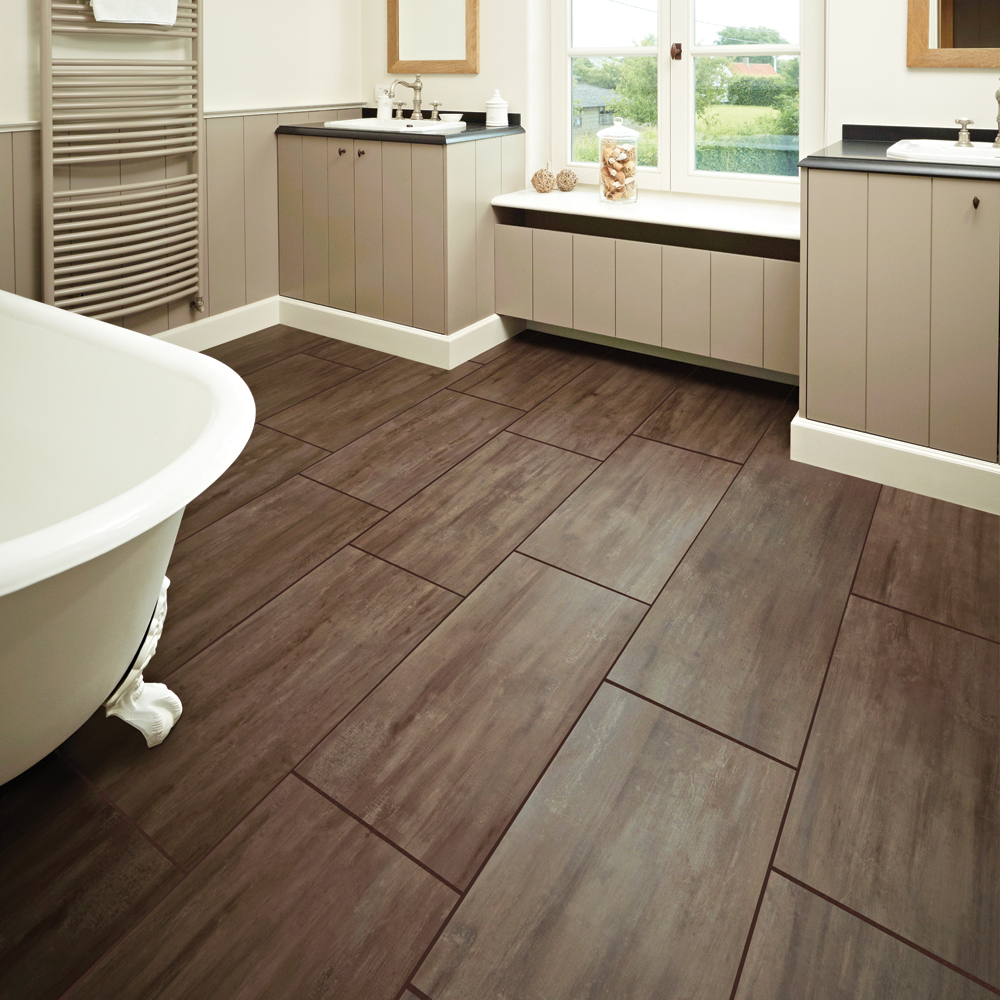 You can get best ideas to remodel your bathroom with these unique lacquer and vinyl wood tile patterns for bathroom floors from the gallery of this post