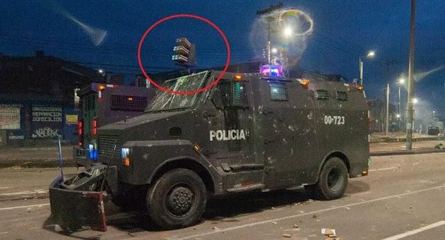 Prohibido el Venom de la Policía en Popayán, Colombia