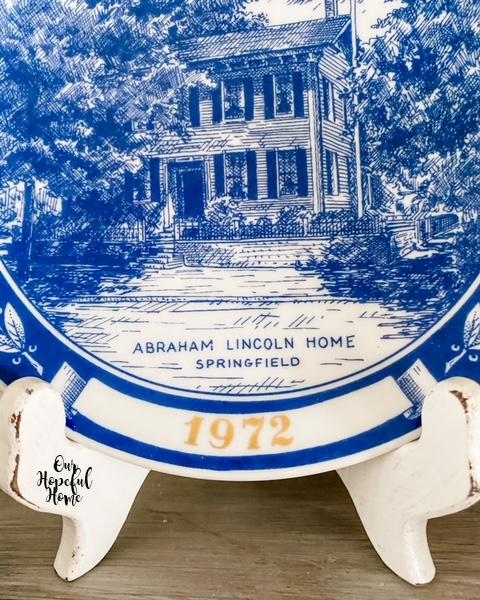 1972 Illinois commemorative plate