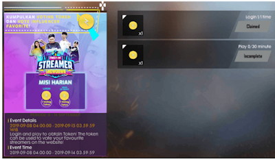 Begini Cara Mendapatkan Token Mark Of Lightning di Event Free Fire Showdown Streamer Melalui Website FFSS