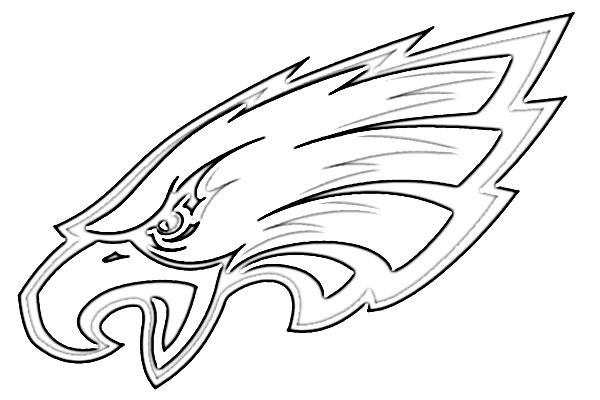 philadelphia eagles coloring pages   Philadelphia Eagles Logo Sketch - Image Sketch