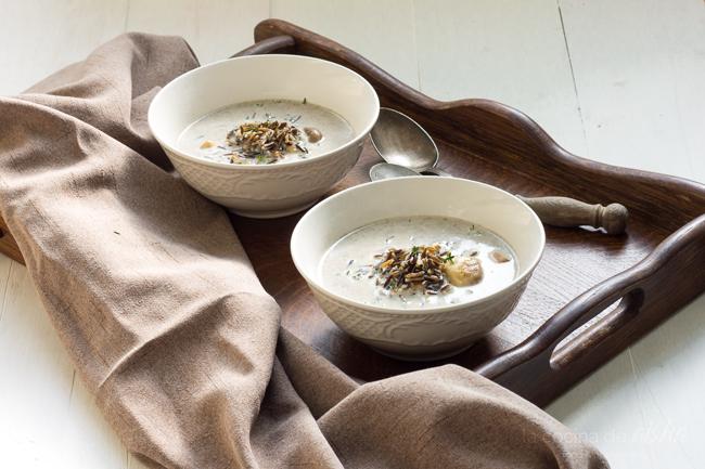 crema-champiñones-arroz-salvaje