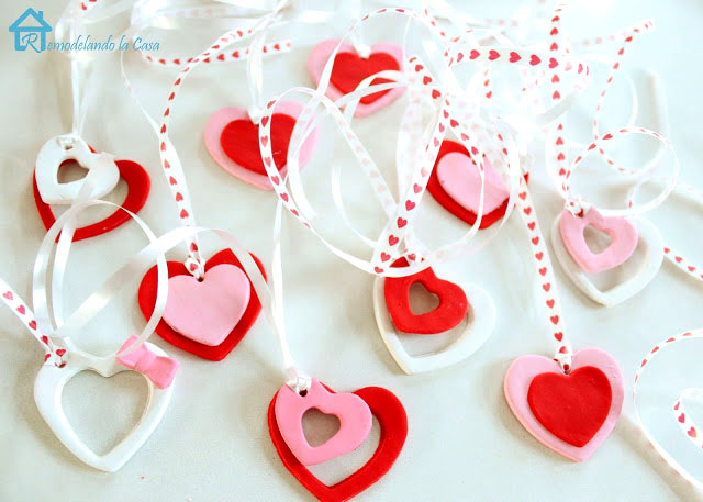 diy polymer clay heart charms for valentines