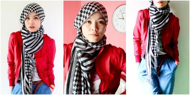 6 Gaya Hijab Dalam Warna Merah Blog Vemale