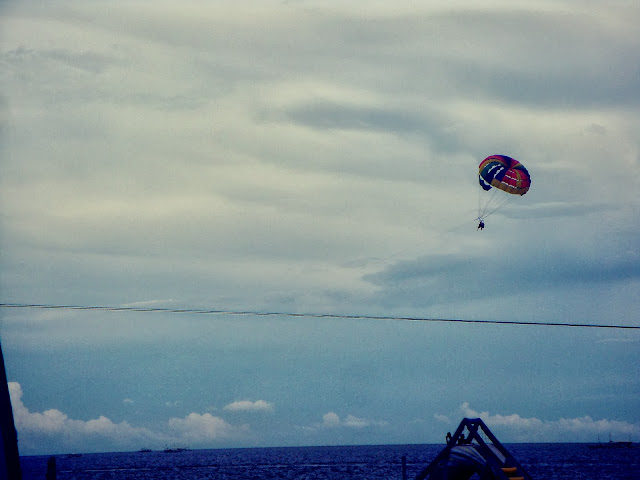 Parasailing in Portofino beach resort