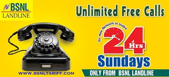 Unlimited free calls on all Sundays from Landline phone