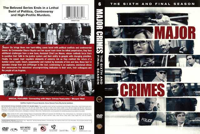 Major Crimes Season 6 DVD Cover