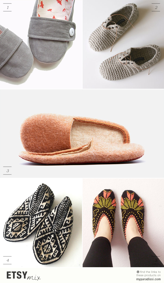 Handmade felted, knitted and crocheted slippers via #etsy