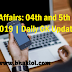 Current Affairs: 04th and 5th March 2019 | Daily GK Update