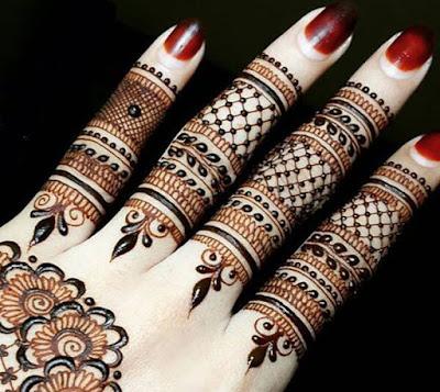just finger mehndi design